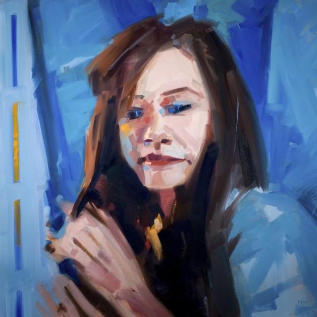 "Philip Frey | Megan | Oil on Linen | 24"" X 24"" | $3,200.00"