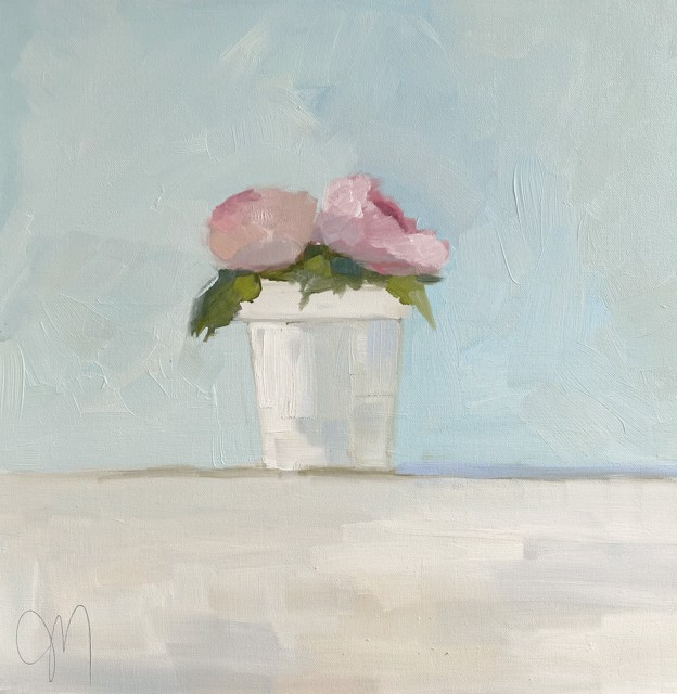 "Jill Matthews | A Touch of Pink | Oil on Canvas | 20"" X 20"" 