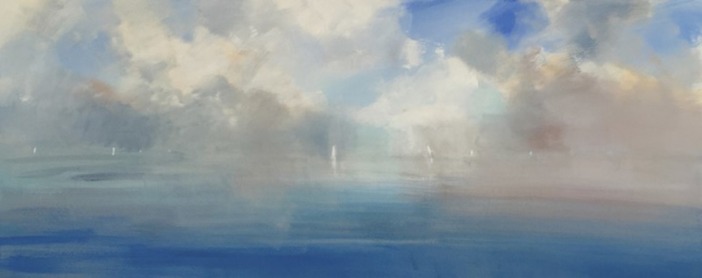 "Craig Mooney | Fog Bank | Oil | 30"" X 72"" 