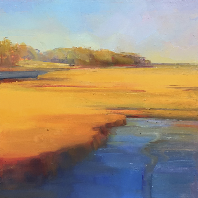 "Holly Ready | Fall Marsh | Oil on Canvas | 18"" X 18"" 