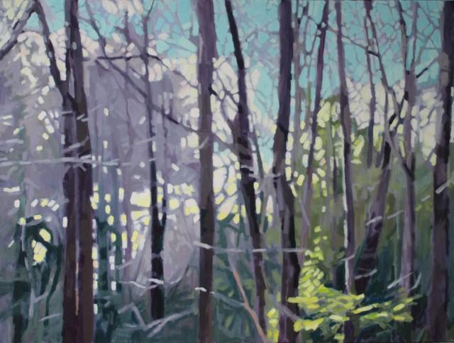 "Liz Hoag | Cool Evening | Acrylic on Canvas | 30"" X 40"" | Sold"