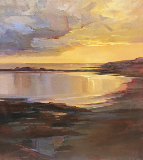 "Holly Ready | Early Morning Cove | Oil on Canvas | 48"" X 42"" 