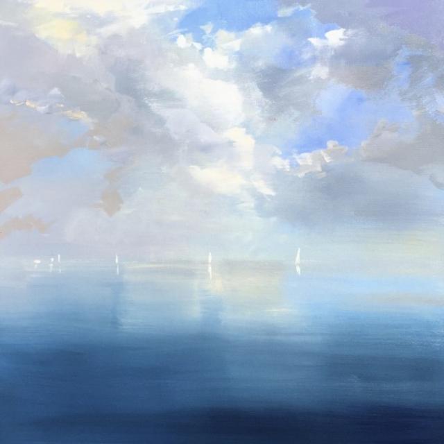 "Craig Mooney | Offshore Breeze | Oil | 30"" X 30"" | $4,000.00"