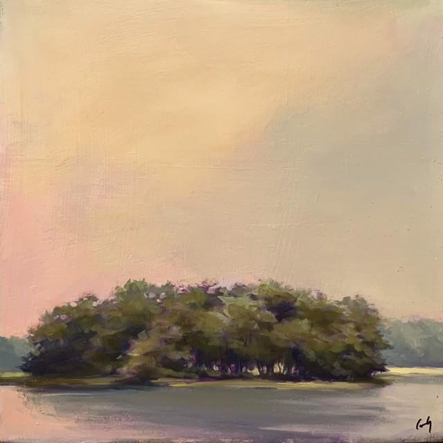 "Margaret Gerding   Maine Moments - Day 6   Oil on Panel   12"" X 12""   Sold"