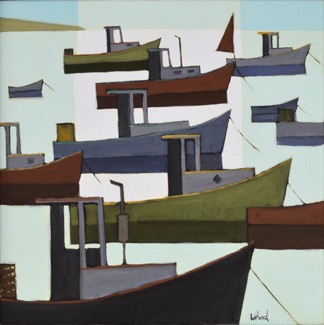 "David Witbeck | Blue Harbor | Oil on Canvas | 24"" X 24"" 
