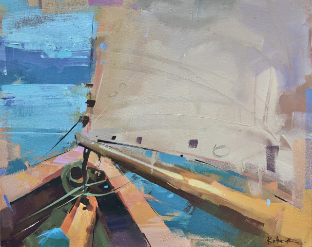 "Ryan Kohler | Land Ho! | Mixed Media on Canvas | 16"" X 20"" | $800.00"