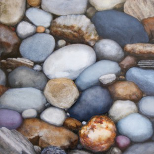 "Alex Dunwoodie | Rocky Shore 1 | Oil | 12"" X 12"" 