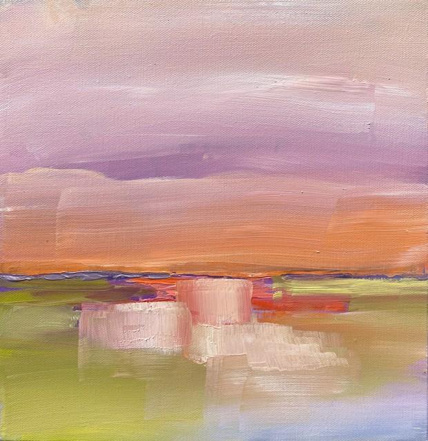 "Claire Bigbee | Orange Sunrise, Ogunquit River | Oil on Canvas | 12"" X 12"" | $950.00"
