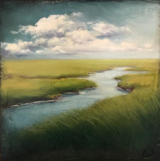 "Margaret Gerding | Seeing Forever | Oil on Canvas | 10"" X 10"" | Sold"