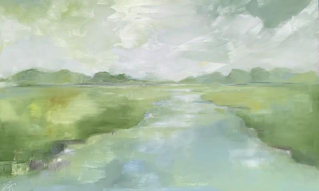 "Ingunn Milla Joergensen | Cove Meditations 1 | Oil on Canvas | 30"" X 48"" | Sold"