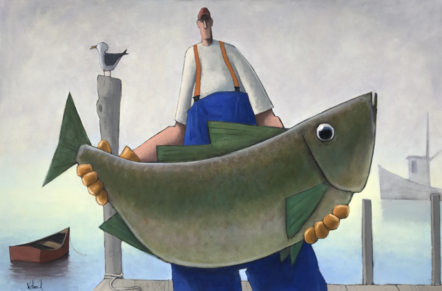"David Witbeck | Hank | Oil on Canvas | 32"" X 48"" 
