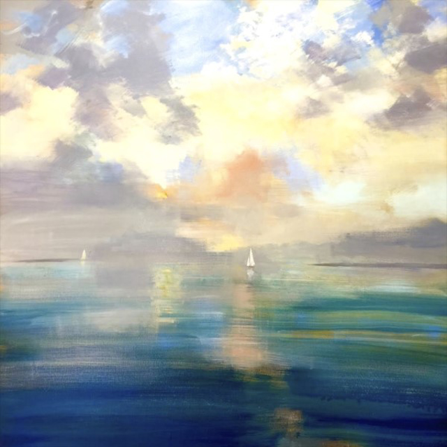 "Craig Mooney | Morning Sail | Oil on Canvas | 60"" X 60"" 