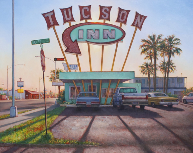 "Gretchen Huber Warren | Tucson Inn | Oil | 24"" X 30"" 