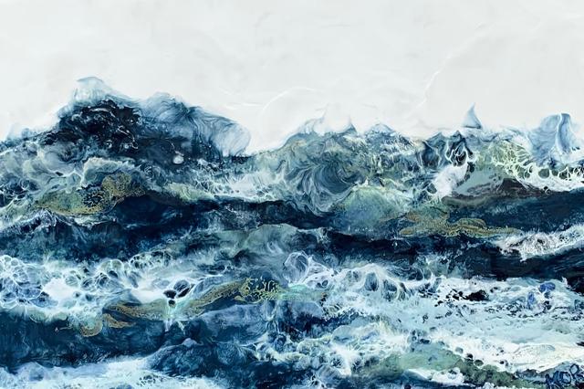"Kathy Ostrander Roberts | November Came Early | Encaustic on Birch Panel | 18"" X 36"" | $2,500.00"