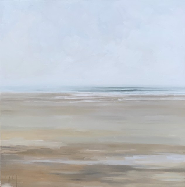 "Jill Matthews | Fog and Calm | Oil on Canvas | 36"" X 36"" | Sold"
