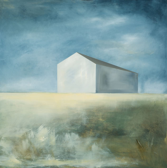 "Ingunn Milla Joergensen | Glowing Barn | Oil on Canvas | 36"" X 36"" 