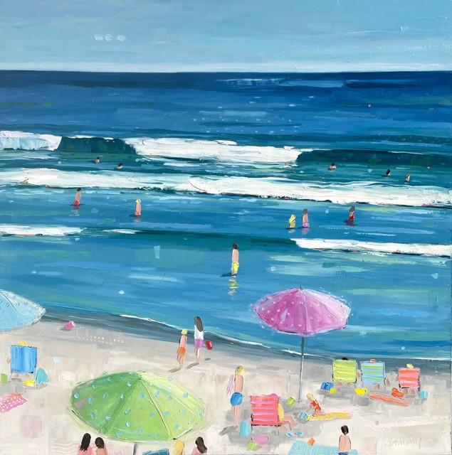 "Bethany Harper Williams   Summer Heat   Oil on Canvas   48"" X 48""   $5,000.00"