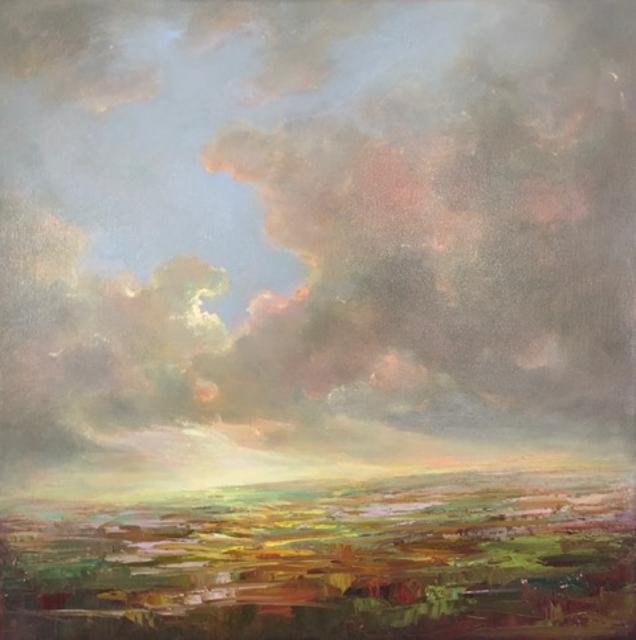 "Julie Houck | Maine Breeze | Oil on Linen | 23"" X 23"" | Sold"
