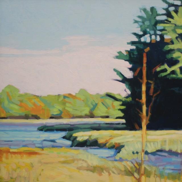 "Liz Hoag | Coastal Marsh | Acrylic on Canvas | 24"" X 24"" | Sold"
