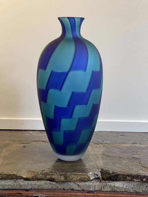 Cobalt and Teal Vase