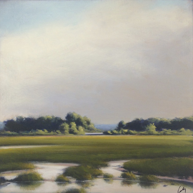 "Margaret Gerding | Scarborough Calm | Oil on Panel | 16"" X 16"" 