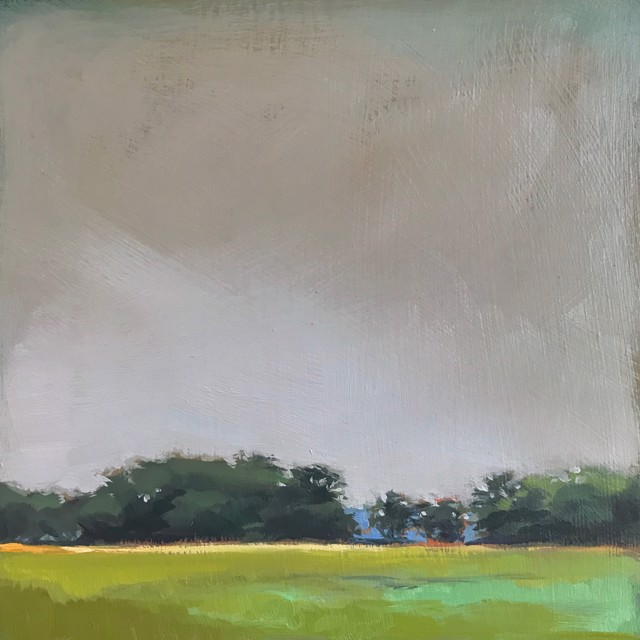 "Margaret Gerding | Close to Home - Day 23 | Oil on Panel | 8"" X 8"" 