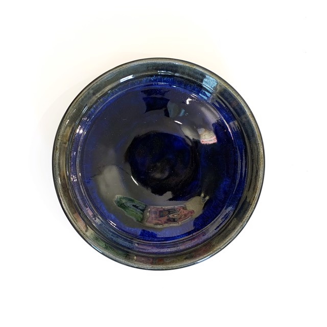 "Richard Winslow | Blue Dish | Ceramic | 2.25"" X 11.25"" | Sold"