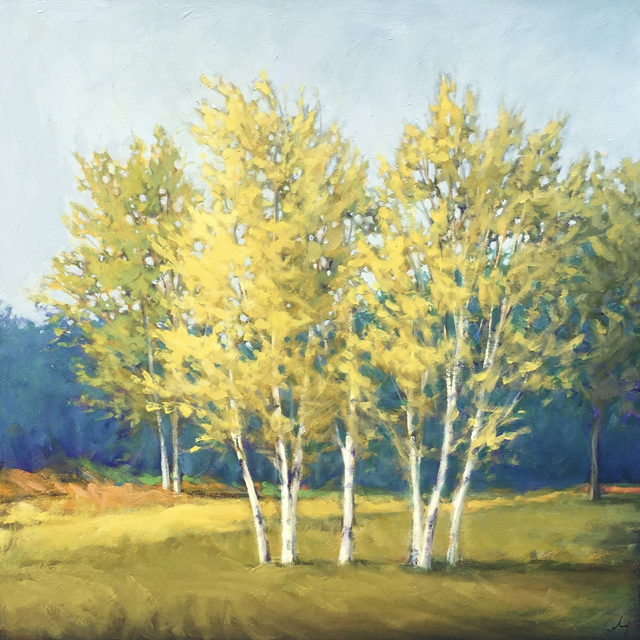 "Margaret Gerding | Spring Revisited | Oil on Panel | 30"" X 30"" 