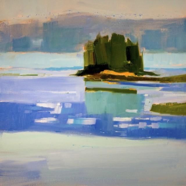 "Philip Frey | Spring Island | Oil on Canvas | 24"" X 24"" | $3,200.00"