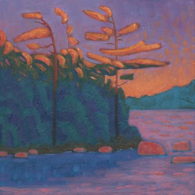 "R. Scott Baltz | Last Light Echo | Oil on Panel | 10"" X 10"" | $650.00"