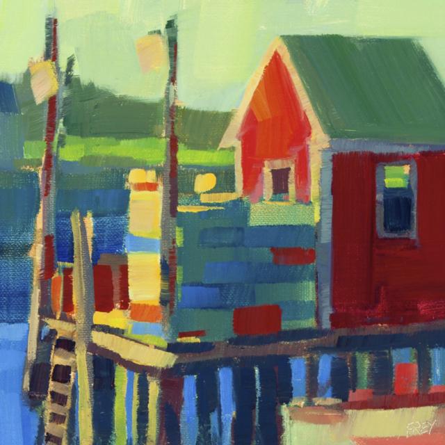 "Philip Frey | Little Red | Oil | 6"" X 6"" | $600.00"