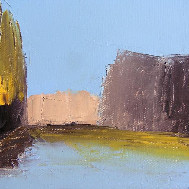 "Janis H. Sanders | Spotlight | Oil on Canvas | 8"" X 8"" | Sold"