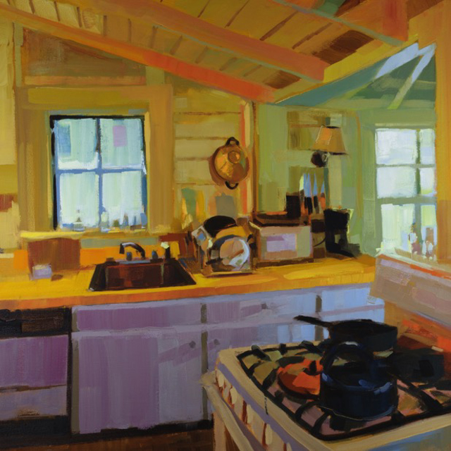 "Philip Frey | Everything But the Kitchen Sink | Oil | 30"" X 30"" 