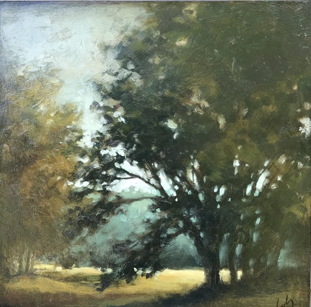 "Margaret Gerding | Entering the Day | Oil on Panel | 12"" X 12"" 