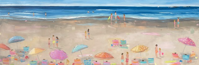 """Bethany Harper Williams   Sun on My Shoulders   Oil on Canvas   20"""" X 60""""   Sold"""