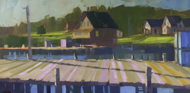 "Philip Frey | Pink Perspective | Oil | 12"" X 24"" 