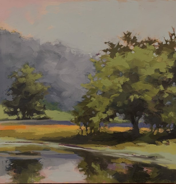 "Margaret Gerding   Maine Moments - Day 2   Oil on Panel   10"" X 10""   Sold"