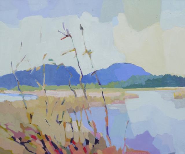 "Henry Isaacs | Autumn Bass Harbor Marsh | Oil | 30"" X 36"" | Sold"