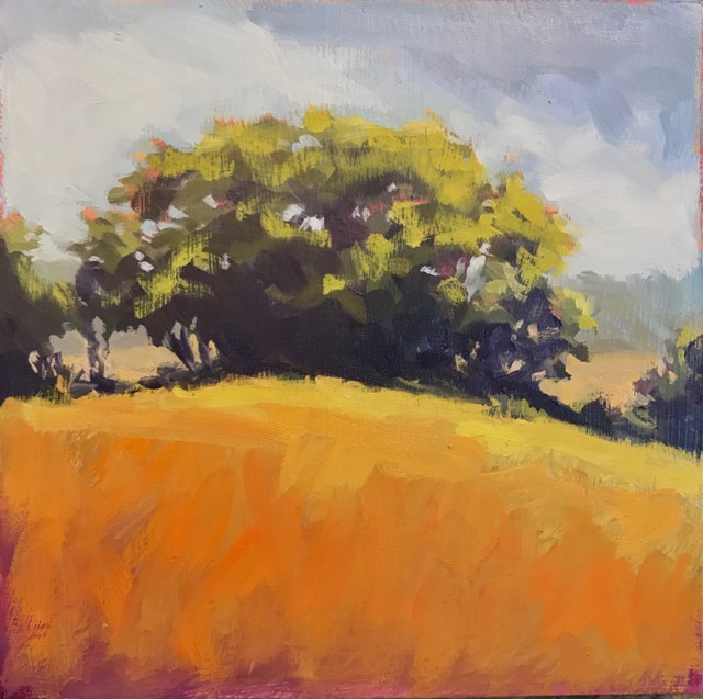 "Margaret Gerding | Close to Home - Day 17 | Oil on Panel | 8"" X 8"" 