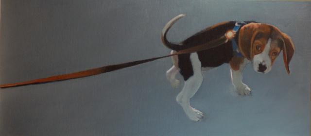 """Gloria Najecki   Newman   Oil on Panel   12"""" X 27""""   Sold"""