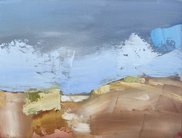 "Claire Bigbee | Sand Dunes, Wells Beach | Oil on Canvas | 9"" X 12"" | $850.00"