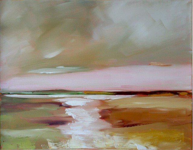 "Claire Bigbee | Under Cotton Candy Skies | Oil on Canvas | 16"" X 20"" 