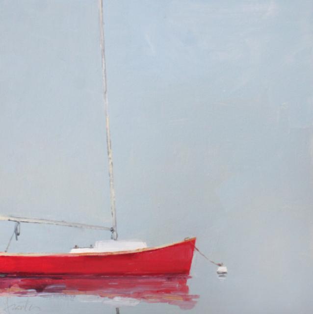 "Ellen Welch Granter | Hazy Light | Oil on Panel | 12"" X 12"" | Sold"