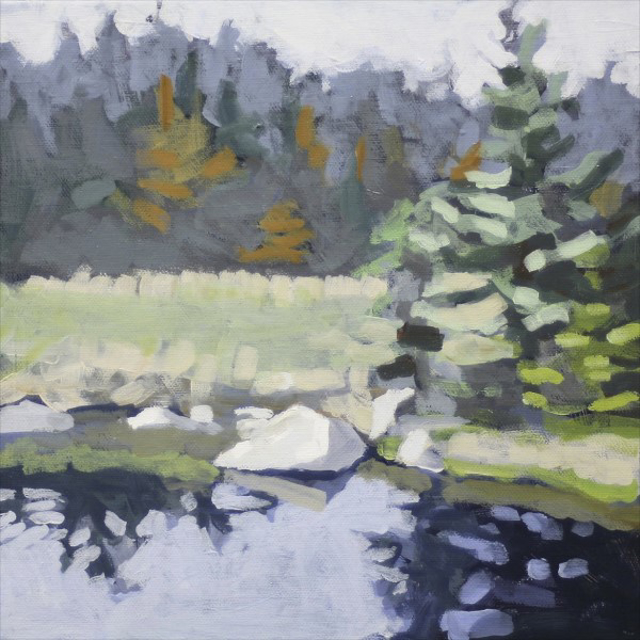 "Liz Hoag | Fall Reflection | Acrylic | 10"" X 10"" | $500.00"