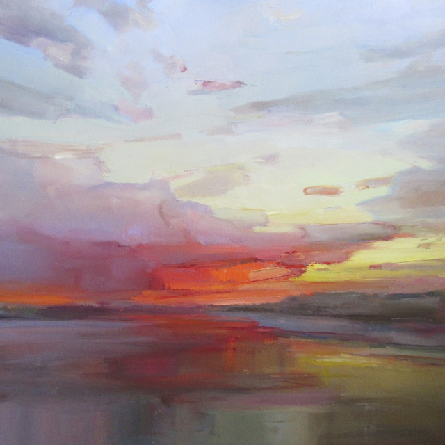 "Holly Ready | Sundown Reflections | Oil | 24"" X 24"" 