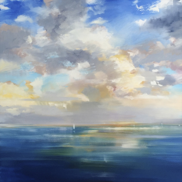 "Craig Mooney | Trade Winds | Oil | 72"" X 72"" 