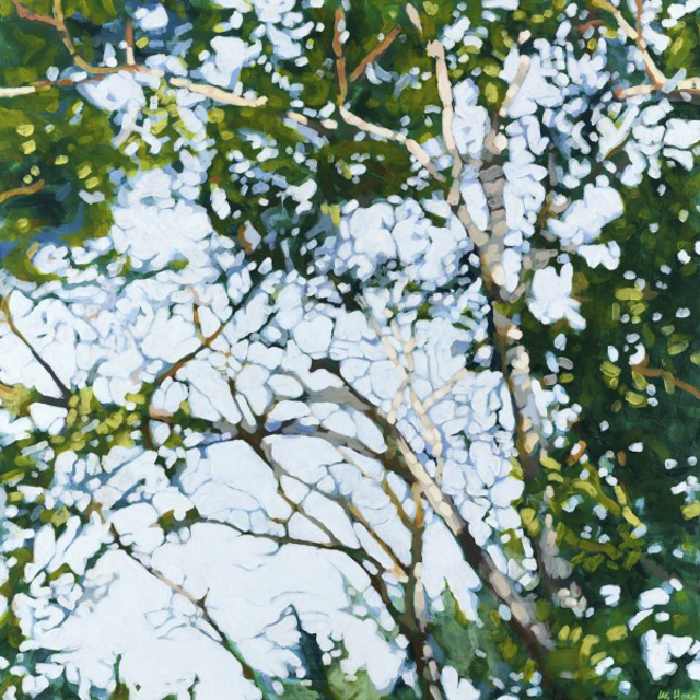 "Liz Hoag | Square Birch Tangle | Acrylic | 36"" X 36"" | Sold"