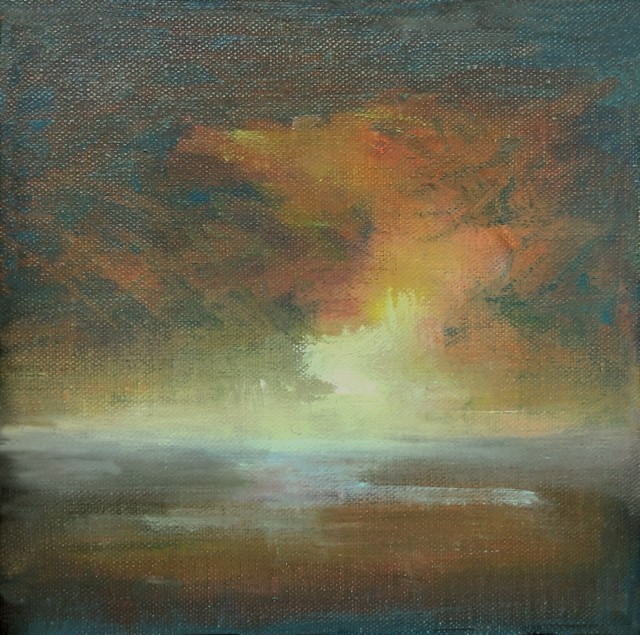 "Julie Houck | Awaken | Oil on Linen | 6"" X 6"" 
