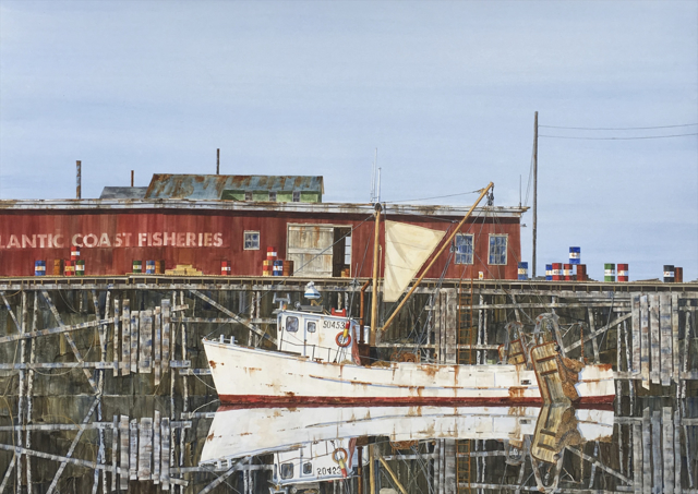 "Tom Puschock | Old Salt | Watercolor | 24"" X 32"" 