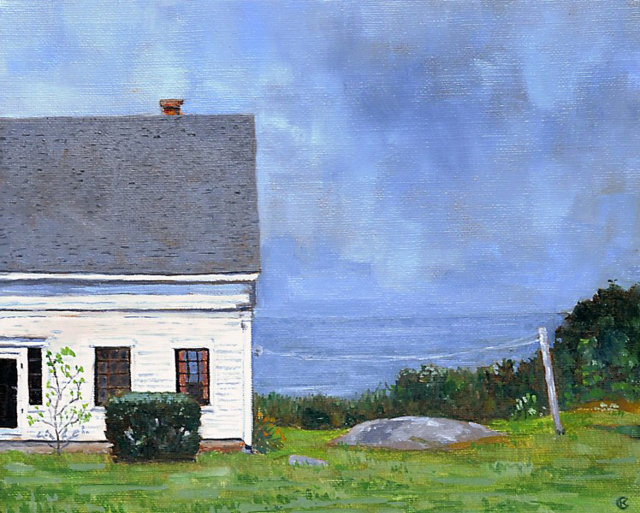 "Kim Case | Island Line | Oil on Canvas | 8"" X 10"" 